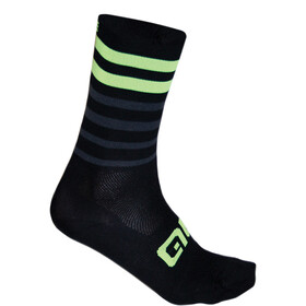 Alé Cycling Speed Fondo Calcetines, black-fluo yellow